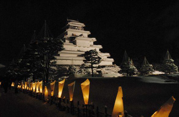 鶴ヶ城×絵ろうそく2