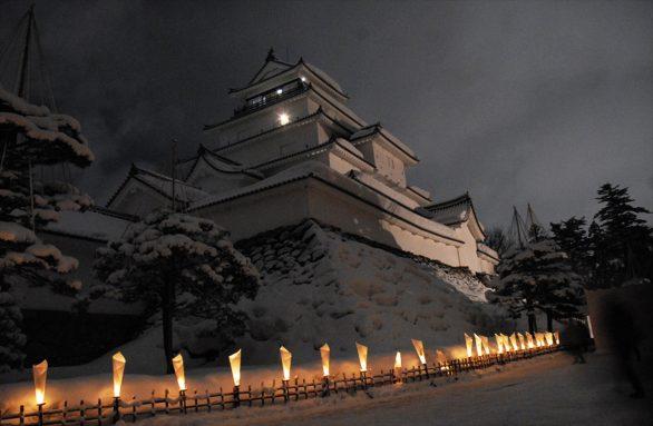 鶴ヶ城×絵ろうそく