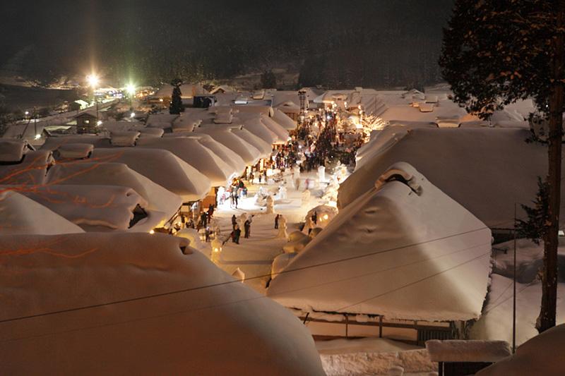 大内宿・雪まつり