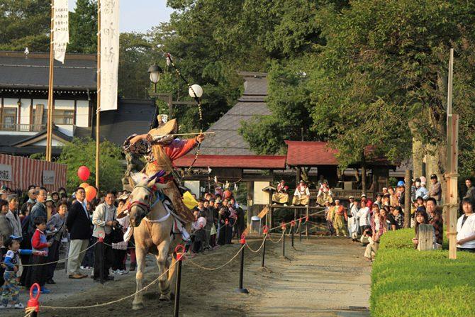 10月の第2週は、古殿八幡神社に800年続く伝統の神事「流鏑馬」を観に行こう!