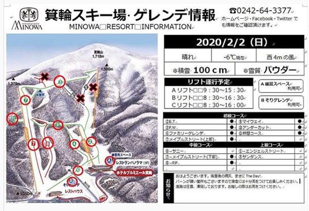 箕輪スキー場・ゲレンデ情報