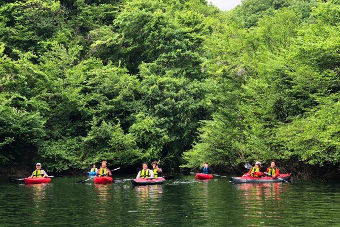 初心者でも大丈夫!ダム湖で体験できる「茂庭っ湖カヤックツアー」に参加してきた