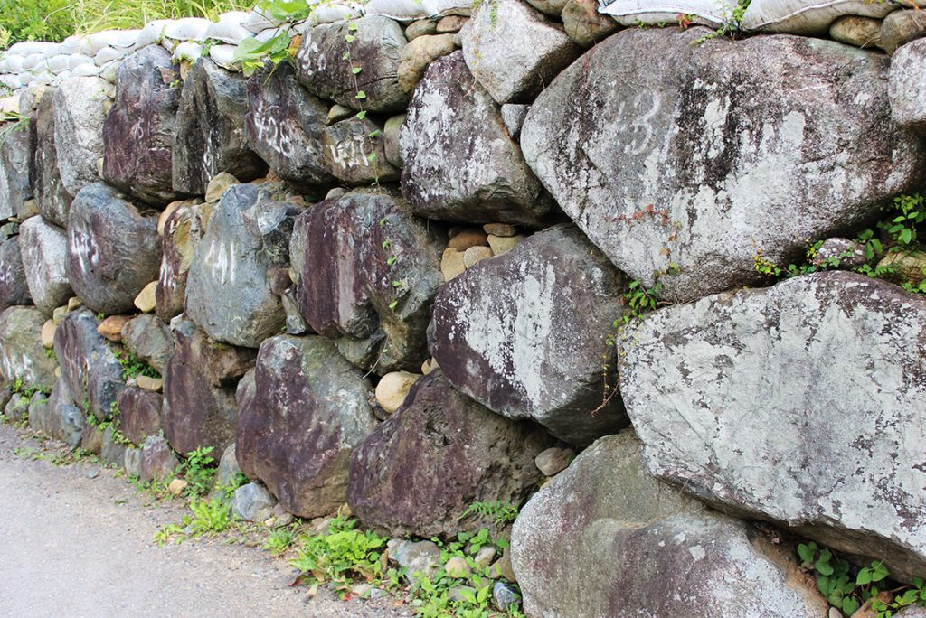 磐城平城跡 塗師櫓石垣