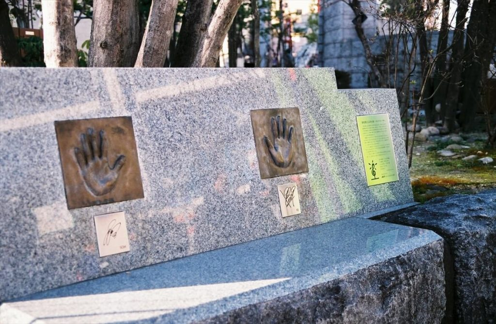 Greeeenメンバーの手形