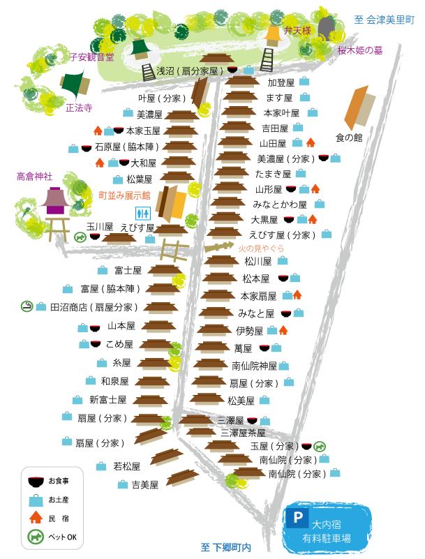 大内宿map