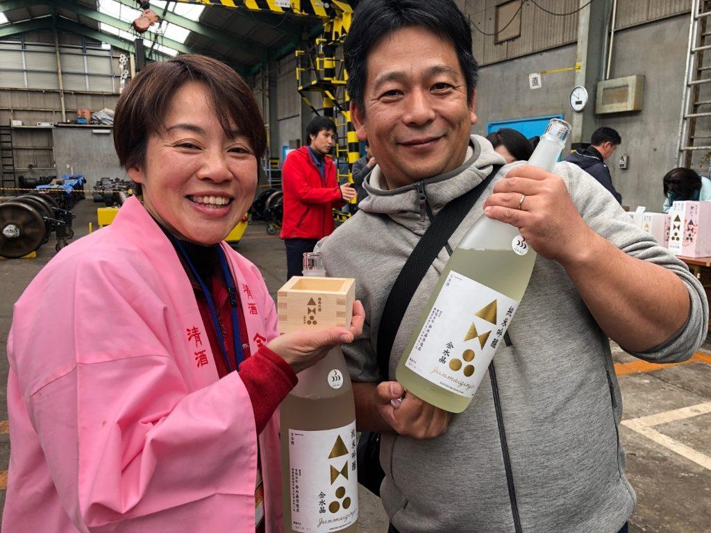 米農家の丹野さんと、ツアー催行会社の齋藤社長