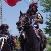 "This is the very Japanese ""Samurai""! A Pageant of a splendid picture scroll with tremble spirits, ""Soma-noma-oi"""